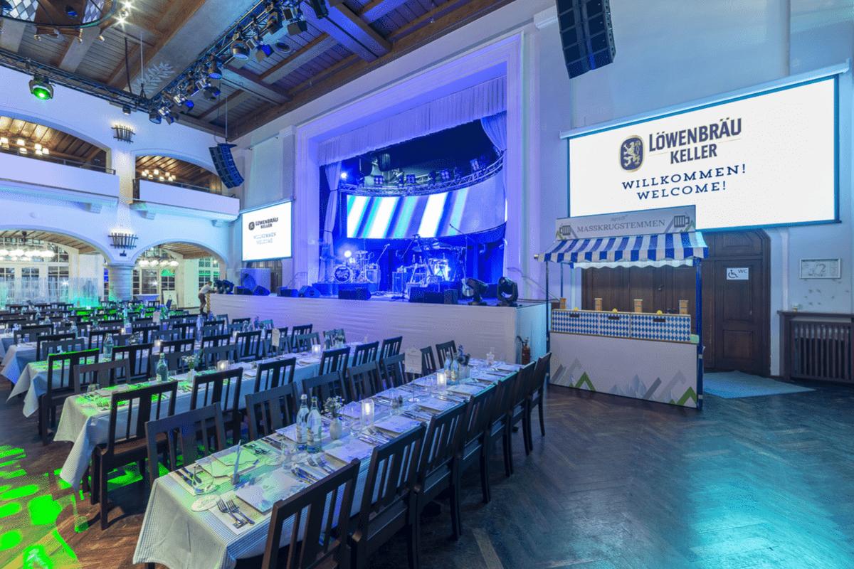 Die Bühne im Festsaal LBK