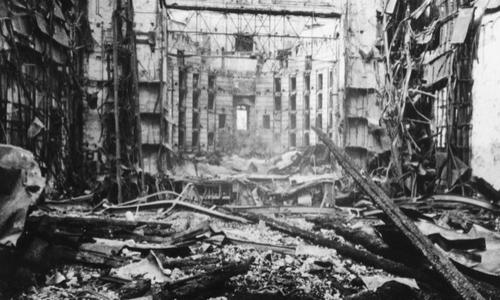 Löwenbräukeller Festsaal zerstört