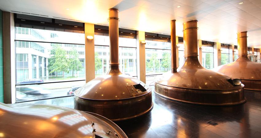 Löwenbräu Brauerei Führung Garkessel
