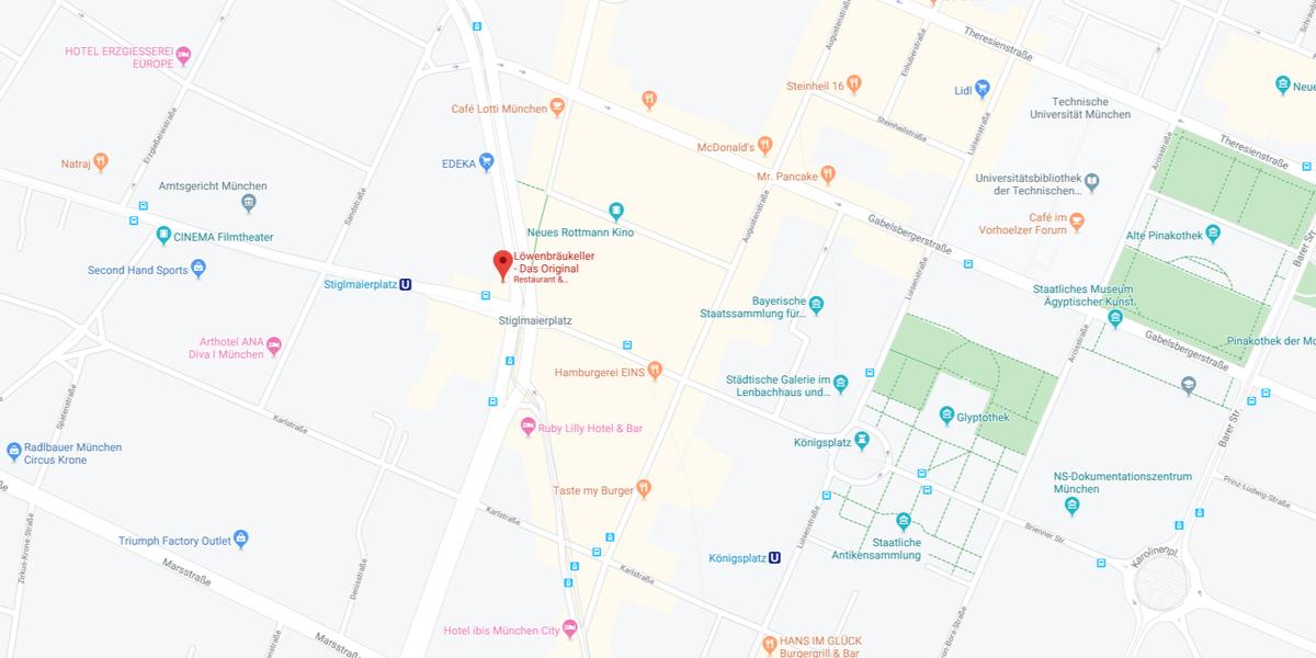Google Maps Löwenbräukeller München