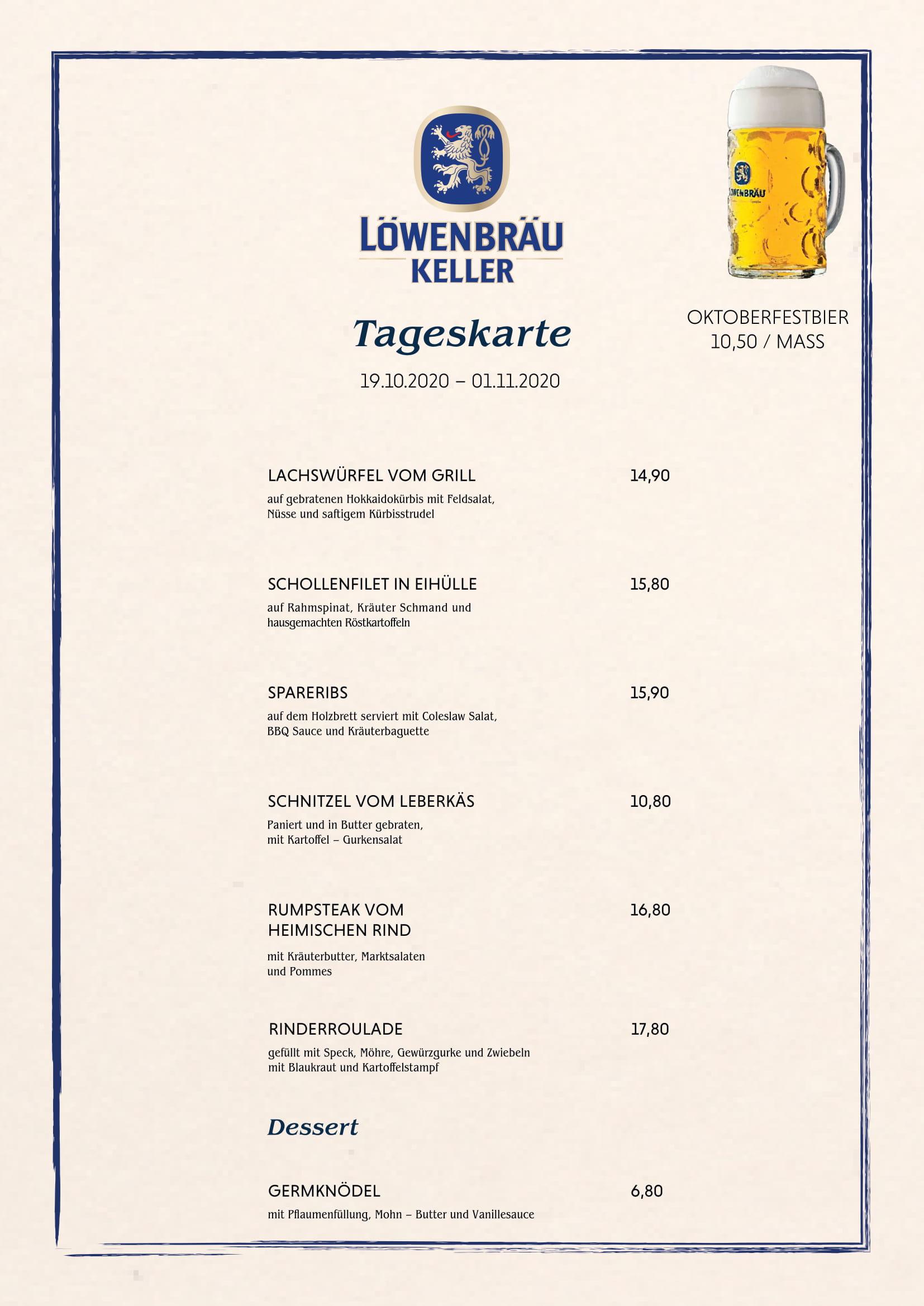 Löwenbräukeller_München_Spezialkarte